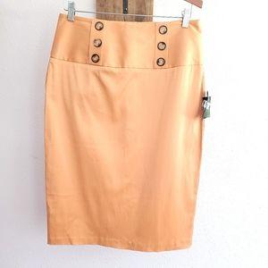 BCX Macy's Mustard Yellow Pencil Skirt Size 13 New